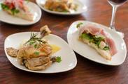 ブルスケッター or 鶏もも肉のコンフィー