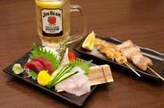 串焼き2本 or お刺身2点盛り