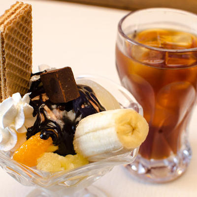 アイスコーヒー&チョコレートパフェ