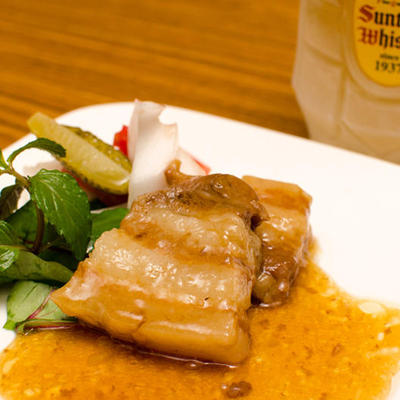 豚角煮と夏野菜のピクルス
