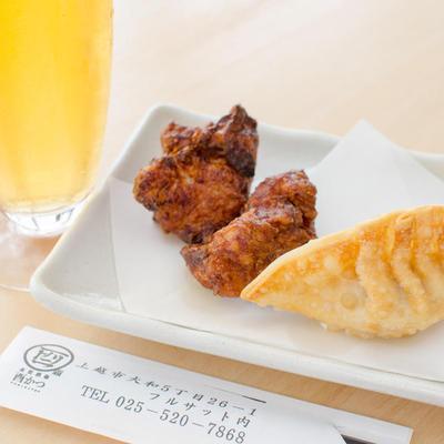 越の鶏 醤油麹唐揚げ&鶏揚げ餃子