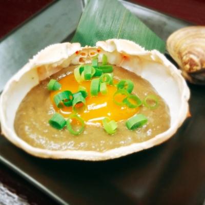 カニ味噌甲羅焼き、はまぐり焼き