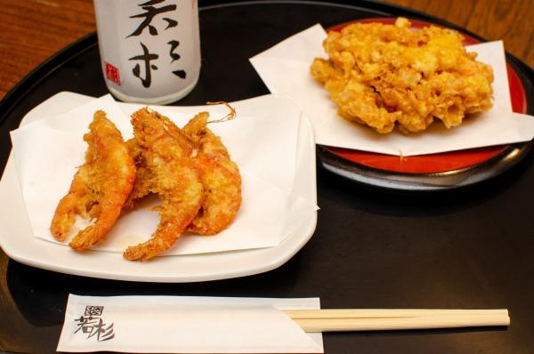 ゆきエビの天ぷら、または、海老と野菜の唐揚げ