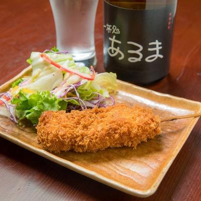 夏野菜のシーザーサラダ&串カツ