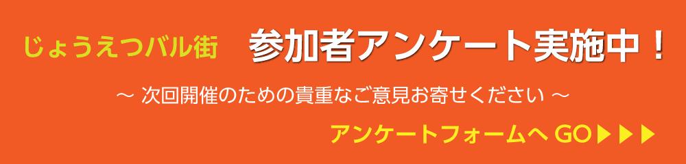 じょうえつバル街vol.12 参加者アンケート