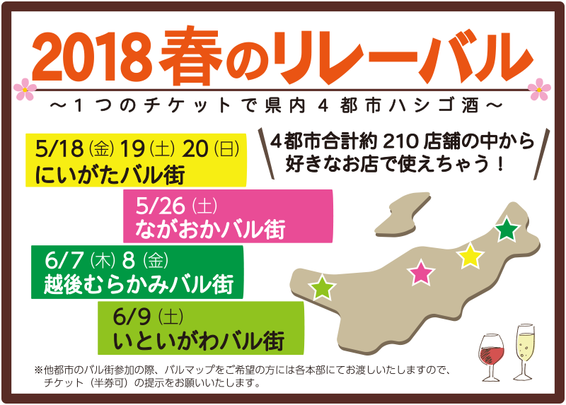 新潟県 2018春のリレーバル